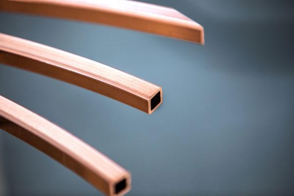 tubo quadro rame industriale