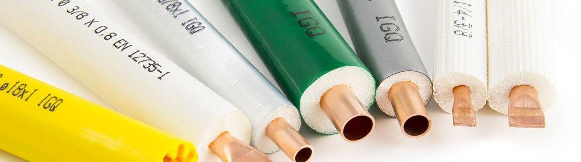 tubo rame rivestito preisolato carbon free
